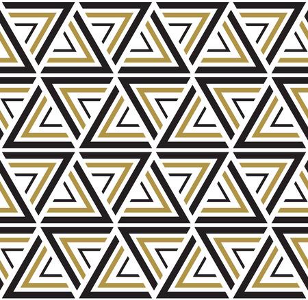 ベクターのシームレスなパターン。スタイリッシュでモダンな生地です。黒と白のシームレスな幾何学的なパターン。