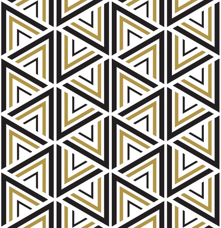 geometric: Vector seamless pattern. Modern stylish texture. Black and white seamless geometric pattern. Illustration