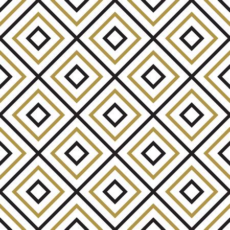 Modèle sans couture de vecteur. Texture élégante moderne. Motif géométrique sans soudure noir et blanc.