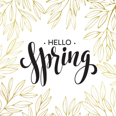 Spring handwritten calligraphy. Illustration