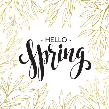 spring: Primavera de la caligrafía manuscrita. Vectores