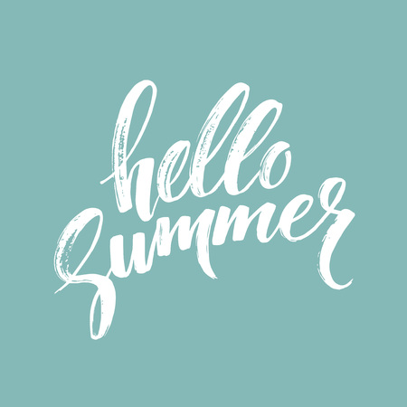 holiday summer: Brush lettering composition. Illustration