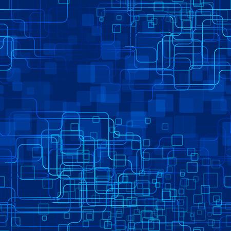 tecnología informatica: Una tecnología azul de fondo estilo de moda. Seamlesspattern.