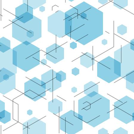 hexagon: Hexagon seamless tech pattern.