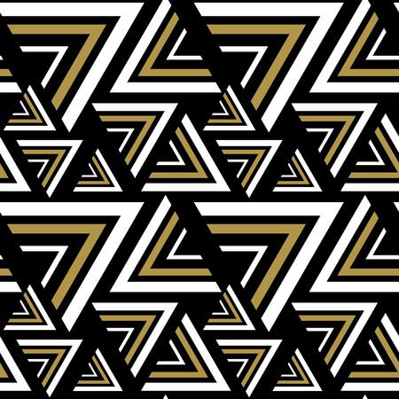 fondo blanco y negro: negro triángulo, modelo blanco sin costuras. Vectores