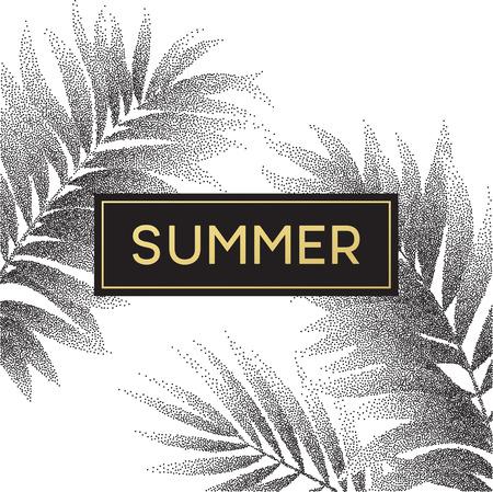 Tropische Palmblätter Design für Text-Karte. Vektor-Illustration EPS10