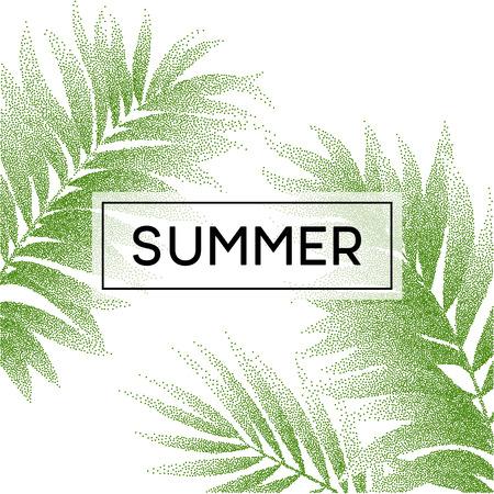 hojas parra: hojas de palmera tropical diseño para la tarjeta de texto. ilustración vectorial EPS10 Vectores