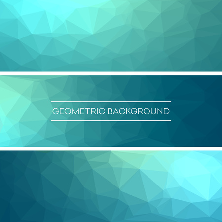 vector backgrounds: Business design templates. Set of Banners with   Polygonal Mosaic Backgrounds. Geometric Triangular Abstract. Vector Illustration EPS10