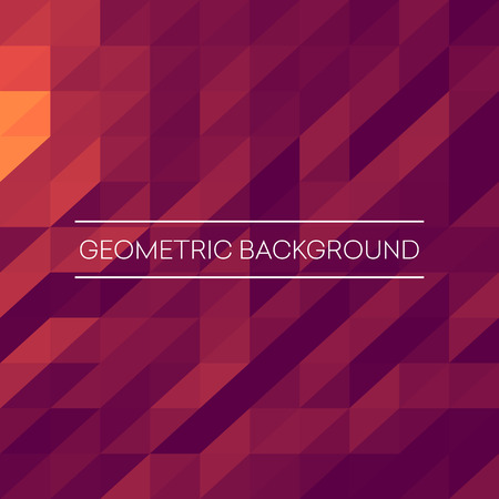 Abstract mosaic background. Pink, purple, orange triangles geometric background. Design elements. Vector illustration EPS10