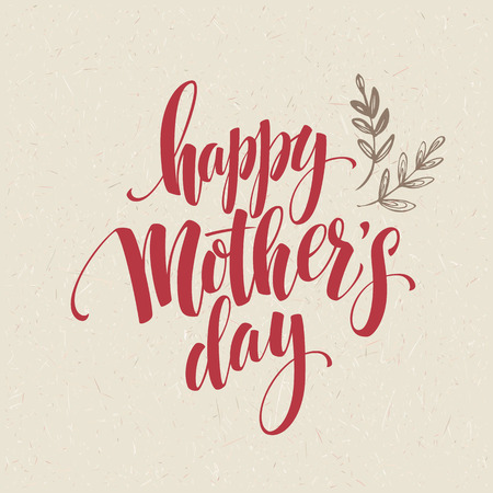 Happy Mothers Day Hand-drawn Lettering  card.  Vector illustration EPS 10 Stok Fotoğraf - 53927094