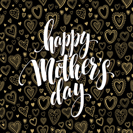 Happy Mothers Day chalkboard greeting. Calligraphy and lettering design. Vector illustration EPS10 Illustration