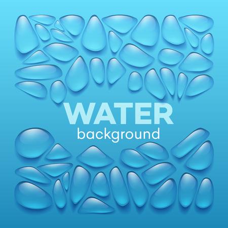 Water drops on blue background. Vector illustration EPS10 Stok Fotoğraf - 54597080