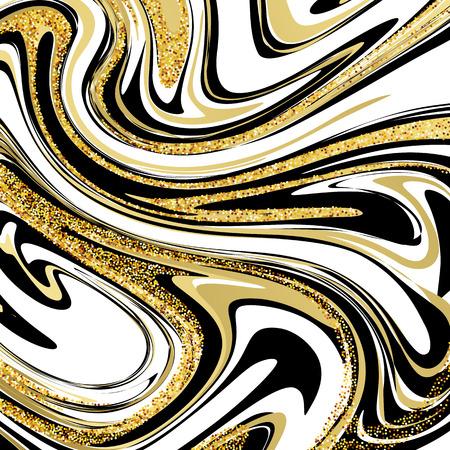 Vector Illustration of Marbling Texture. For Design, Website, Background, Banner. Ink Liquid Element Template. Vector illustration EPS10
