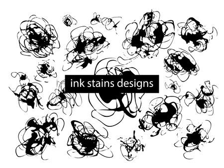 ink illustration: Grunge ink stain brush design. Vector illustration EPS10