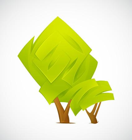 Extracto del árbol aislado en un fondo blanco. ilustración vectorial EPS10