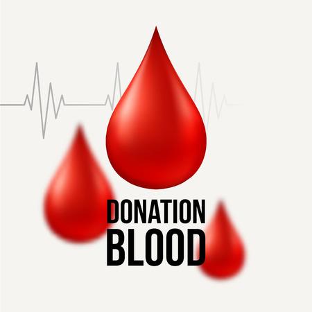 set the intention: Blood donation  Medical background. Vector illustration EPS10 Illustration