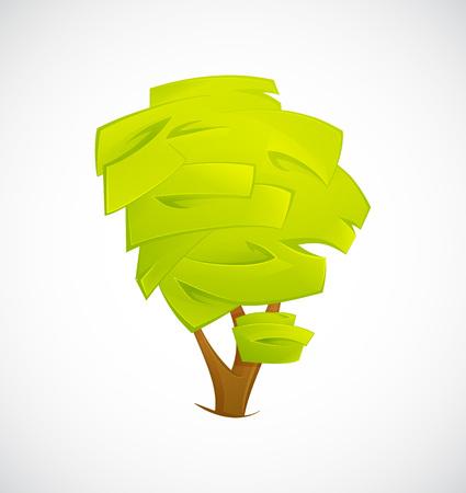 Extracto del árbol aislado en un fondo blanco. ilustración vectorial EPS10 Ilustración de vector
