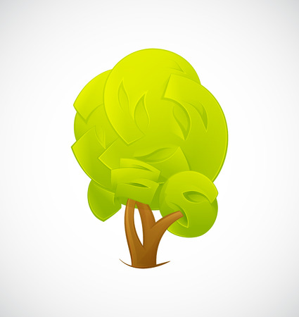 abstract tree: Abstract Tree  isolated on a white background. Vector illustration EPS10