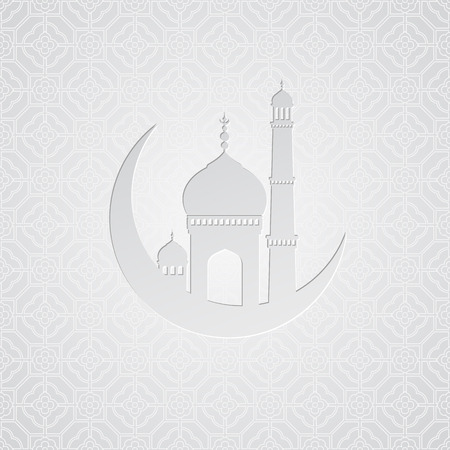 Ramadan greetings card background. Vector illustration EPS10