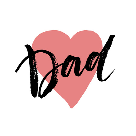 best dad: Best Dad lettering. Fathers day greeting card. Vector illustration EPS10