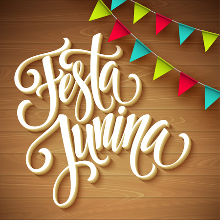 Festa Junina party greeting design. Vector illustration EPS10