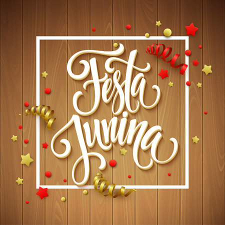 hamlet: Festa Junina party greeting design. Vector illustration EPS10