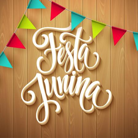 festa: Festa Junina party greeting design. Vector illustration EPS10