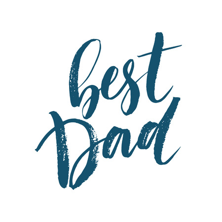 daddy: Best Dad lettering. Fathers day greeting card. Vector illustration EPS10