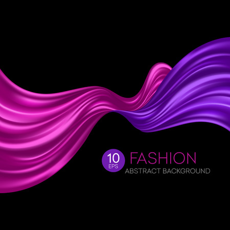 mesh: Red flying silk fabric. Fashion background. Vector illustration EPS10