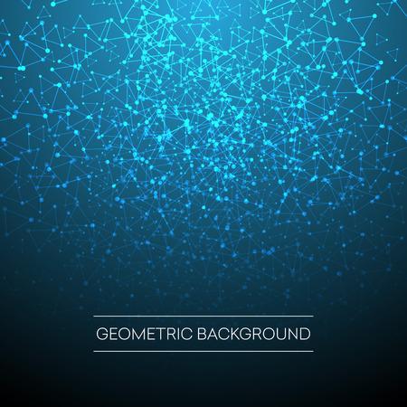 Contexte abstrait avec une grille pointillée et des cellules triangulaires. Illustration Vectorisée EPS10