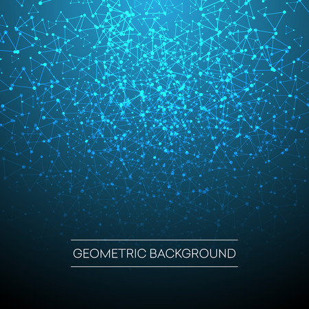 Abstract background with dotted grid and triangular cells. Vector illustration EPS10