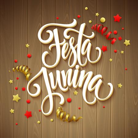 hamlet: Festa Junina party greeting design. Vector illustration EPS10