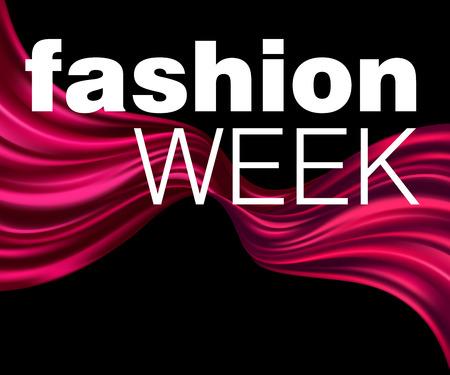 silky velvet: Fatshion Week Red fabric texture background. Vector illustration EPS10