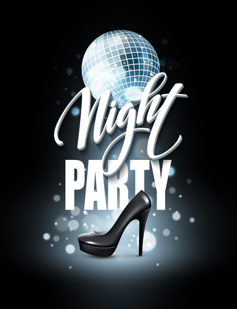 party night: Night Party Typography design. Vector illustration EPS10