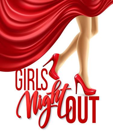 night out: Girl Night Out Party Design. Vector illustration EPS10 Illustration