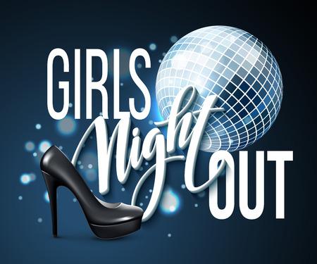 senhora: Design Menina Out Party Night. Ilustração do vetor EPS10