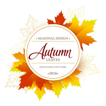 Autumn seasonal banner design. Fal leaf. Vector illustration EPS10 Vector Illustration