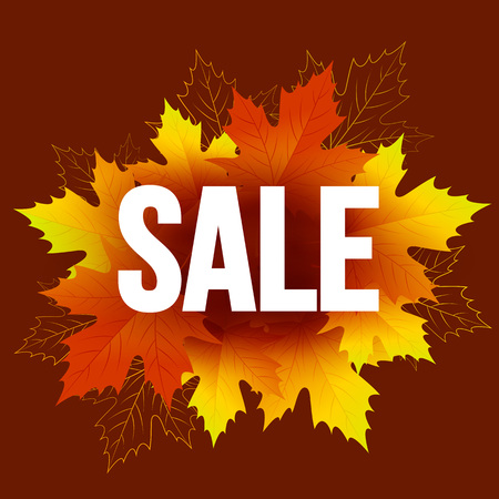 seasonal: Autumn seasonal banner design. Fal leaf. Vector illustration EPS10