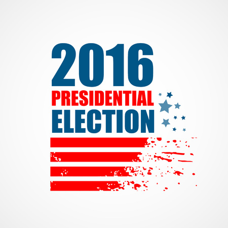 nomination: 2016 USA presidential election poster. Vector illustration EPS10
