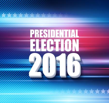 2016 USA presidential election poster. Vector illustration EPS10