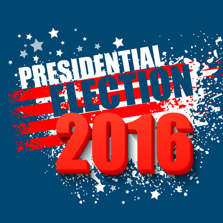 presidential: 2016 USA presidential election poster. Vector illustration EPS10
