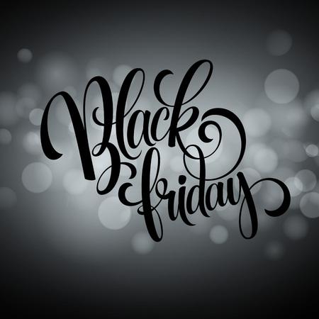 defocus: Black friday sale background. Lights bokeh background. Vector illustration EPS10 Illustration