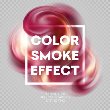 Fumée colorée sur fond isolé.