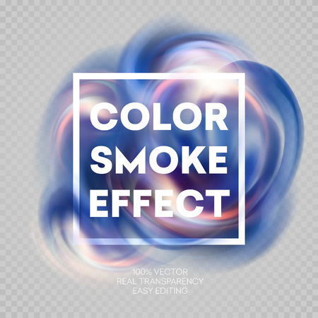 vapor trail: Colorful smoke on isolated background.