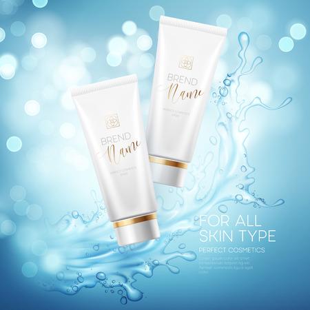 Conception de la publicité des cosmétiques de produits. Vector illustration Banque d'images - 69381441