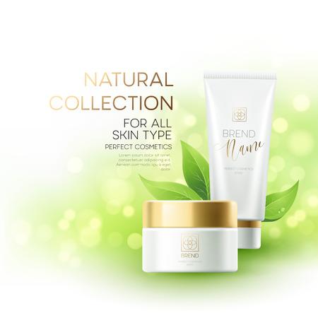 Conception de la publicité des cosmétiques de produits. Vector illustration Banque d'images - 69381448