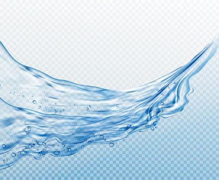 Transparante waterspatten, druppels geïsoleerd op transparante achtergrond. Stock Illustratie