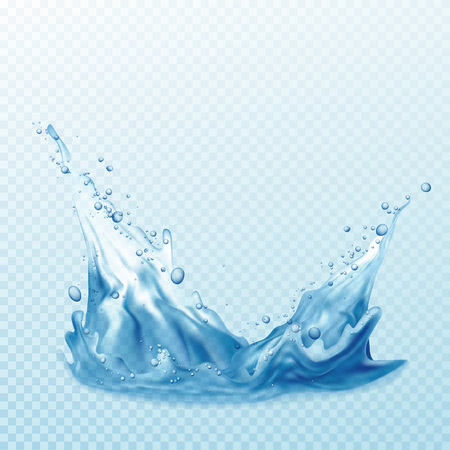 Transparent water splashes, drops isolated on transparent background. Фото со стока - 70577348