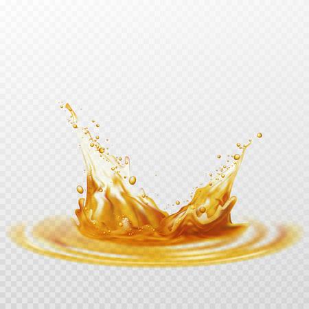Claboussure de mousse de bière de couleur blanche et jaune sur un fond transparent. Illustration vectorielle Banque d'images - 70577362