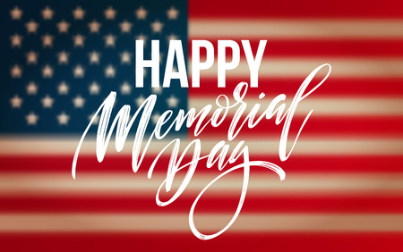 Happy Memorial Day card National american holiday.